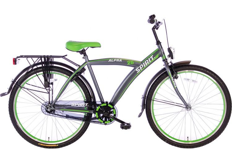 Spirit Alpha Jongensfiets Groen 26 Inch - 2018