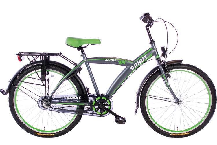 Spirit Alpha N3 Jongensfiets Groen 24 Inch - 2018