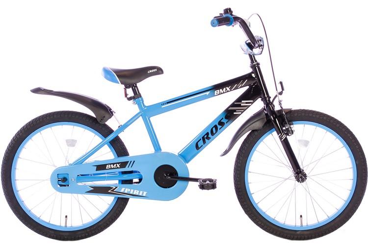 Spirit BMX Cross Jongensfiets blauw 20 Inch