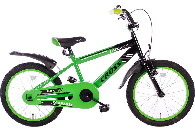 Spirit BMX Cross Jongensfiets groen 18 Inch