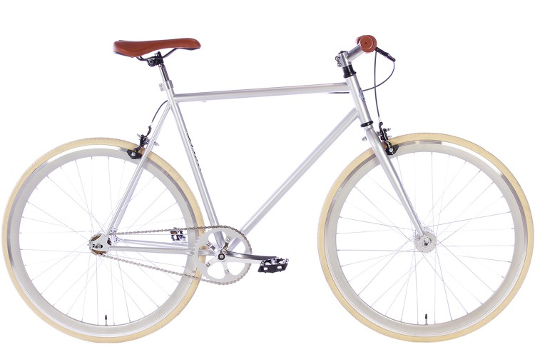 Spirit Fixed Gear Bike Zilver 2018