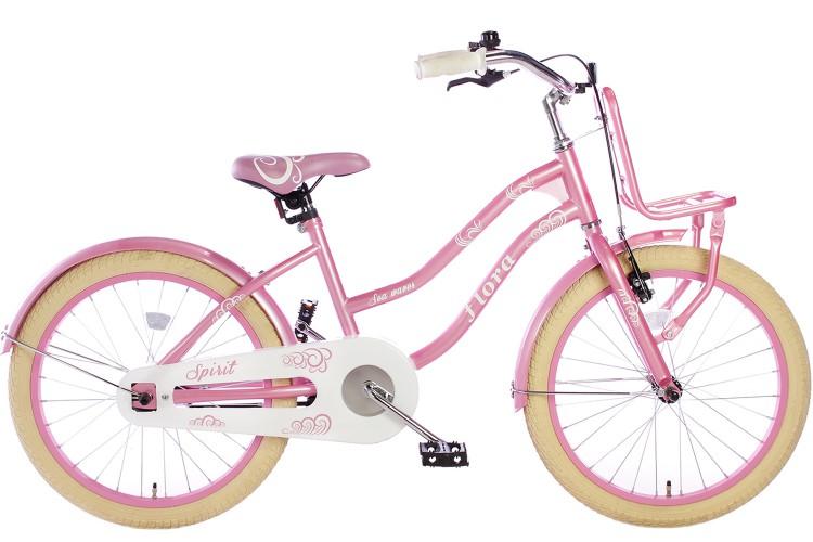 Spirit Flora Meisjesfiets Roze 18 inch