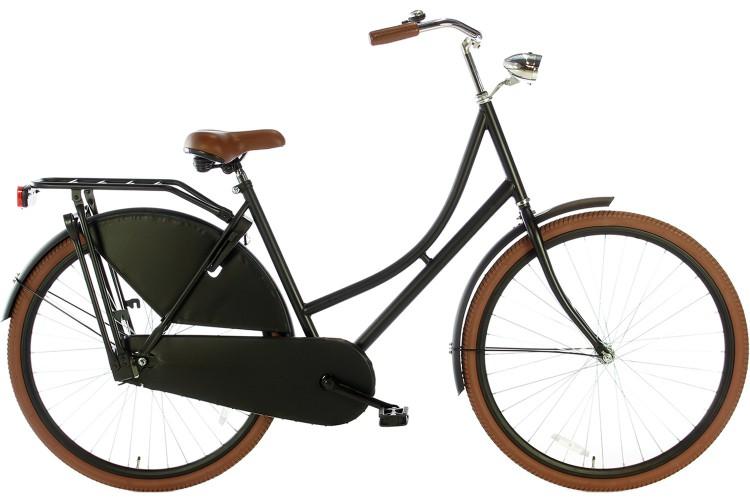Spirit Omafiets Mat-zwart 28 Inch 2018