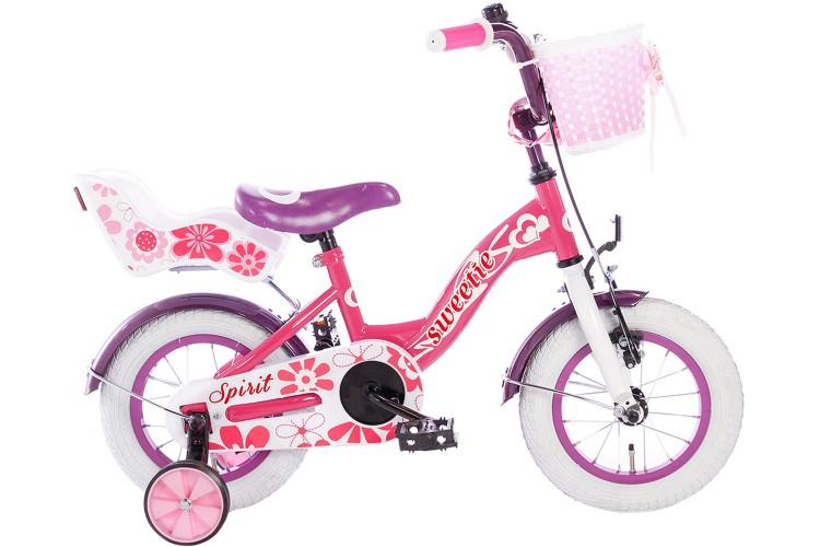 Spirit Sweetie Meisjesfiets Roze-Paars 12 inch