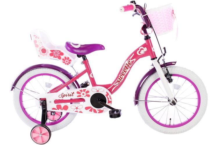 Spirit Sweetie Meisjesfiets Roze-Paars 16 inch