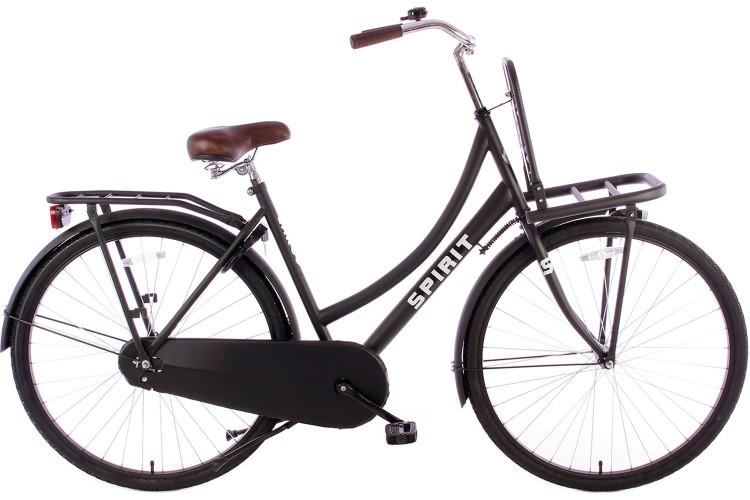 Spirit Transportfiets Mat-Zwart 2019