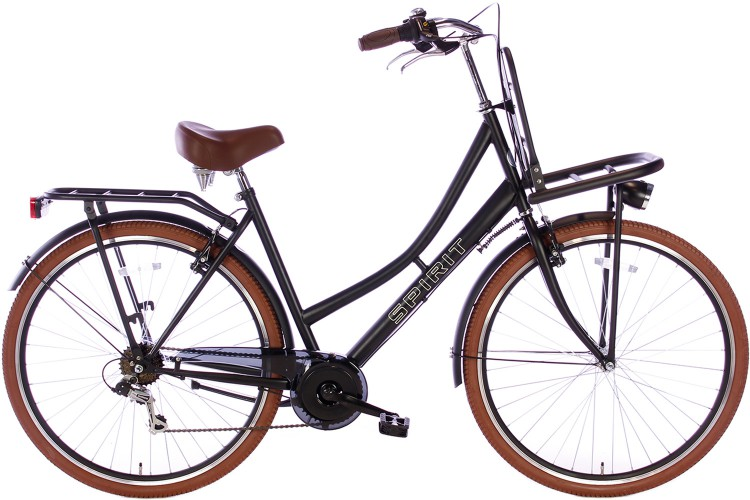 Spirit Transporter 7-Speed Damesfiets Mat-Zwart 2018