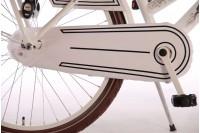 Volare Omafiets Wit met voordrager 24 inch