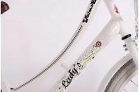 Volare Omafiets Spring Wit met voordrager 24 inch