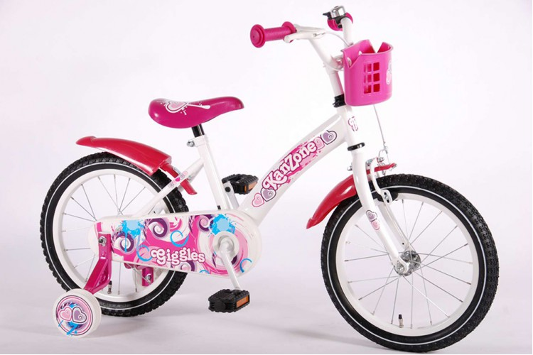 Kanzone Giggles Wit-Roze 16 inch